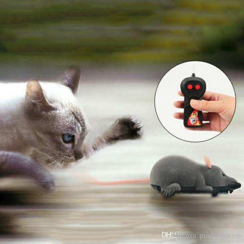 Cat Toy Wireless Remote Control Mouse Electronic RC Mice Toy Pets Cat Toy Mouse For kids toys Mischief Electronic Mouse Factory Price