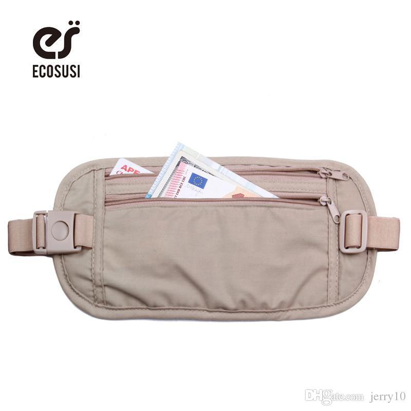 6f9731640 ECOSUSI Waist Bag High Quality Travel Waist Pouch Belt Money Wallet Bags  Passport Holders Change Safe Strap Waist Bag Passport Online with  $6.38/Piece on ...