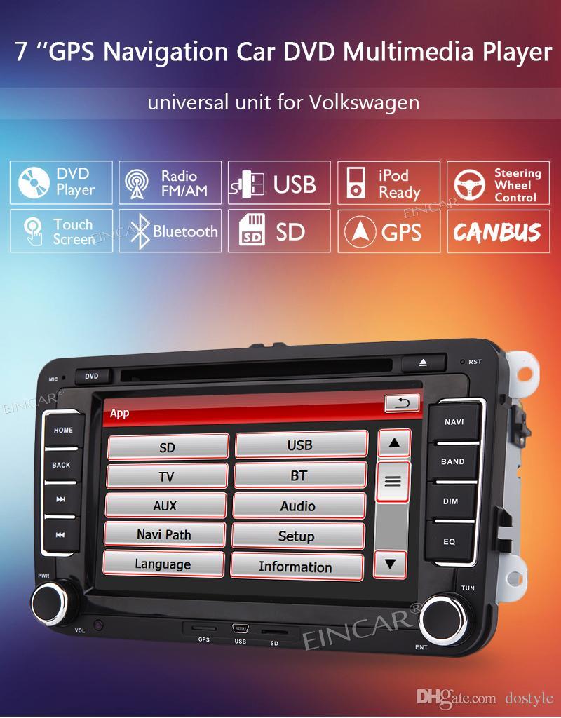 자동차 비디오 더블 딘 2 din automagnitol 자동차 라디오 스테레오에서 폭스 바겐 자동차 오디오 DVD 플레이어 자동 8GB GPS지도 카드