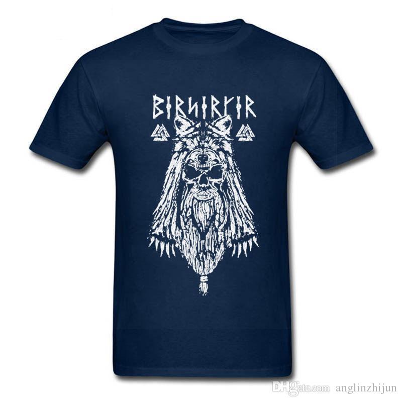 ae77a9b48 Vintage Viking Berserker T Shirts Men Pure Cotton Vikings T Shirts Man  Print Camisetas Short Sleeve Tees Shirts Guys Tops XS 3XL Design T Shirts  Online ...
