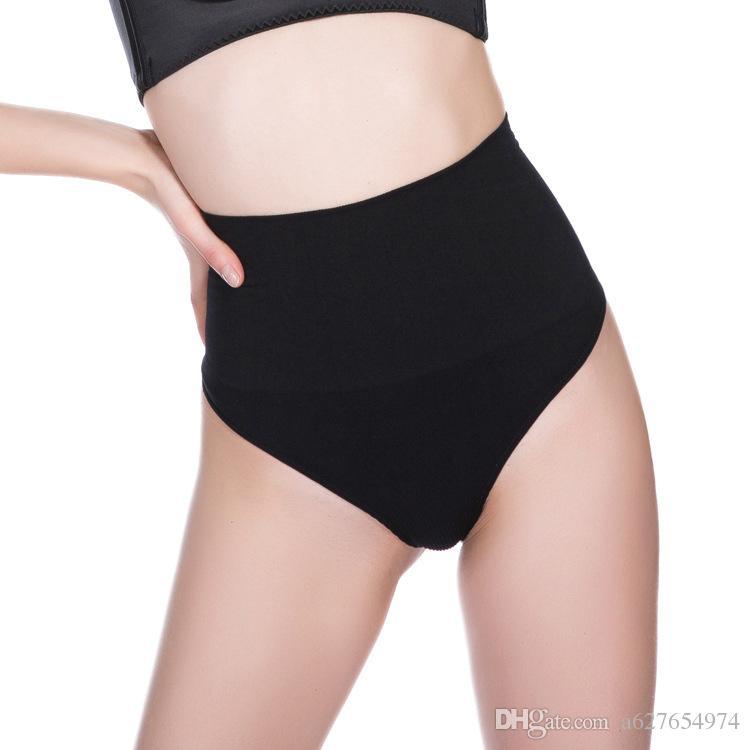 3c1eb9ebdbeea 2019 Women High Waist Trainer Tummy Slimming Control Waist Cincher Body  Shaper Thong G String Butt Lifter Seamless Panties From A627654974