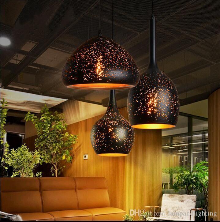 빈티지 복고풍 산업 녹 효과 새겨진 금속 펜던트 고정 이닝 룸을 조명 한 바 레스토랑 카페 중단 램프를 점등