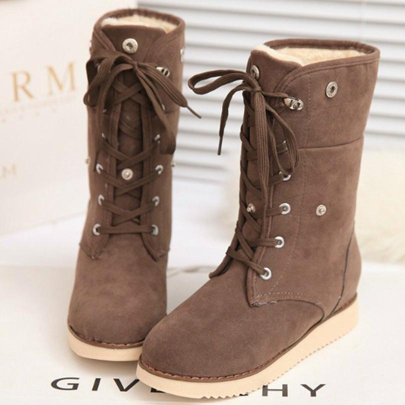 8ab97cde0242 Warm Solid Anti Slip Snow Boots Women Snowshoes Women s Winter Boots  Comfortable Ankle Women Boots Women s Winter Mujer Boots Moon Boots Red  Shoes From ...