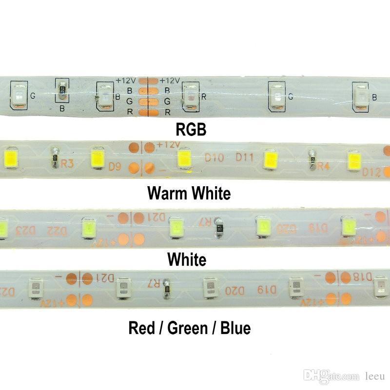 5M 2835 SMD plus brillant que 3528 5050 SMD Bande lumineuse à LED DC 12V 60LEDs / M Ruban Décoratif Intérieur Blanc Bleu Rouge