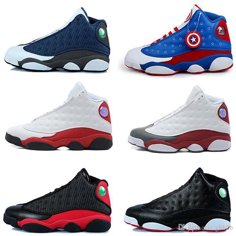 2019 Mens Basketball Shoes 13 Hyper Roya Bred City of Flight DMP Discount Sneakers 13s Black Cat Sports Shoes