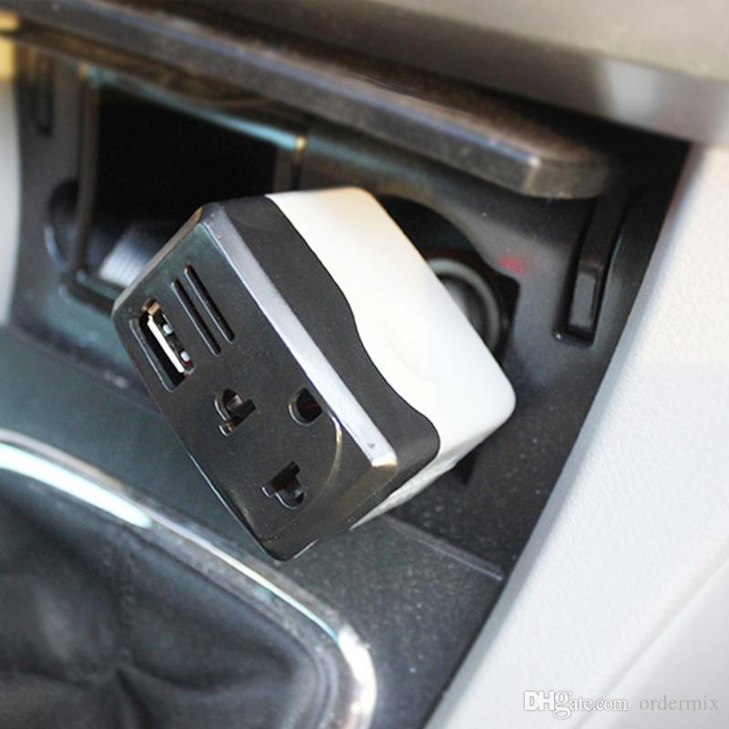 Alimentation de voiture onduleur 10w CC 12V / 24V à CA 220V convertisseur transformateur chargeur de téléphone portable pour ordinateur portable universel USB