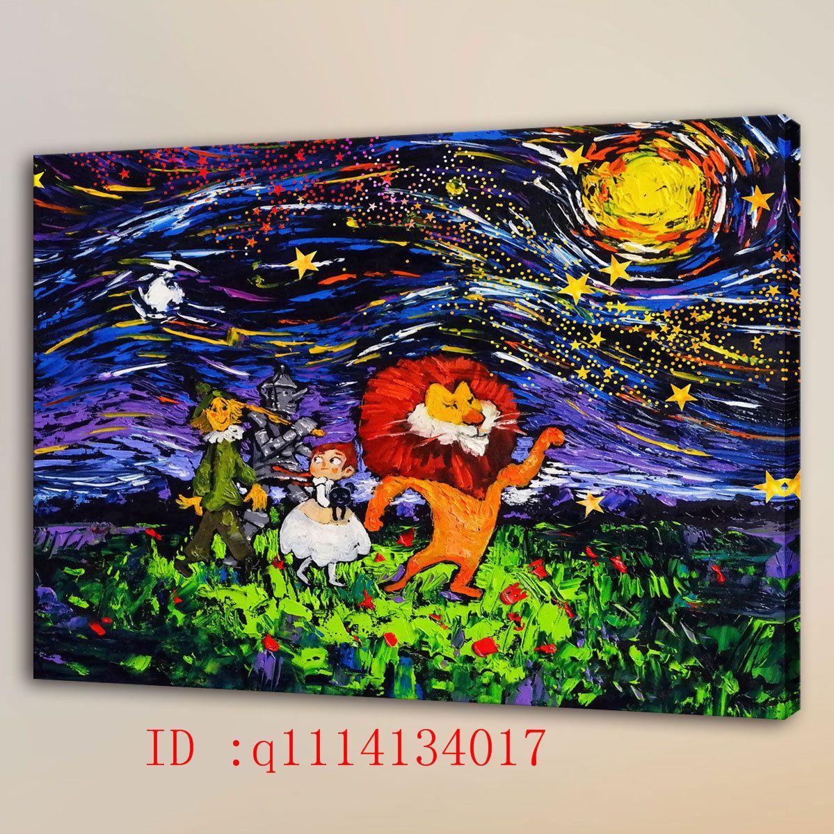 2018 Van Gogh The Wizard Of Oz Hd Canvas Prints Wall Art Oil ...