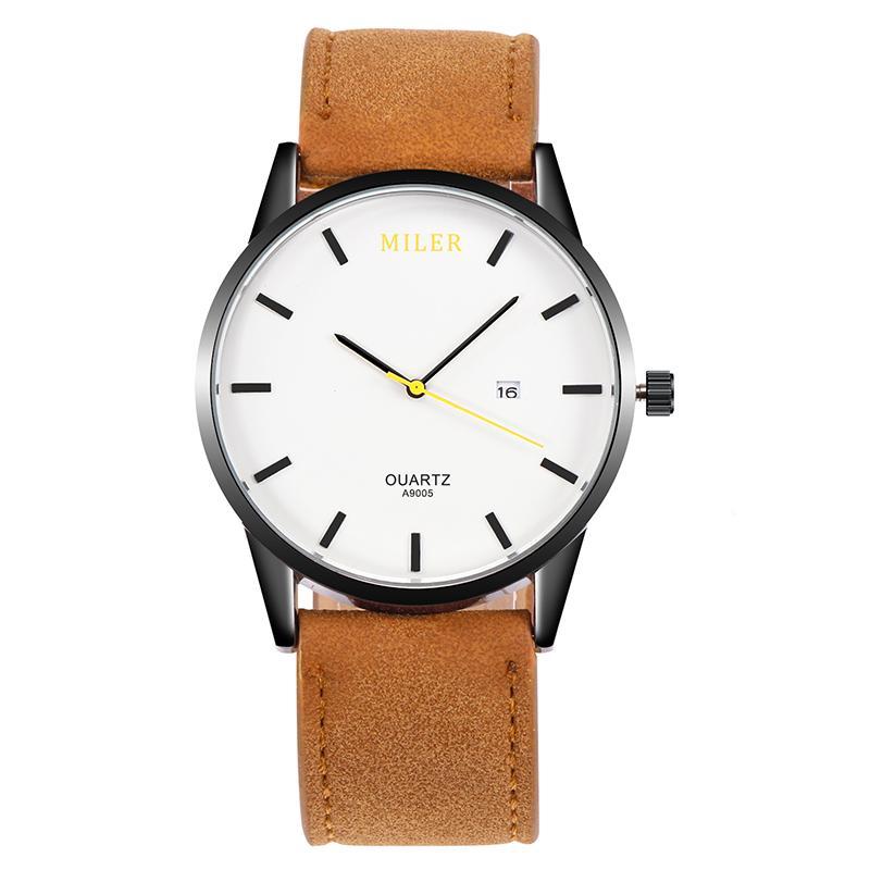b6e203140d8 Men S Watch Top Brand Luxury Sport Watch Men MILER Fashion Watches Leather  Strap Clock Erkek Kol Saati Relogio Masculino Swiss Watch Vintage Watches  From ...