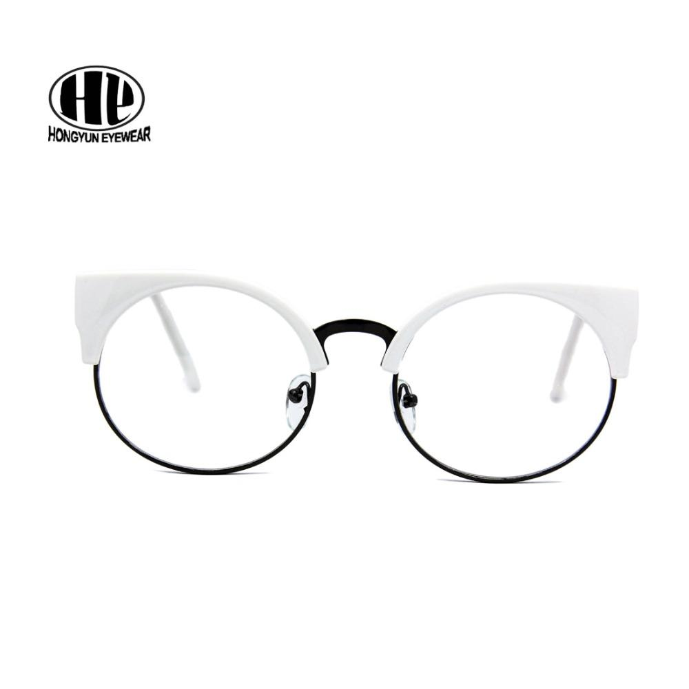 29b4d9ad1b 2019 2017 New Cat Eye Glasses Women Vintage Eyewear Quality Acetate Gafas Clear  Lens Sunglass Frame Alloy Student Glasses Frame From Lbdwatches
