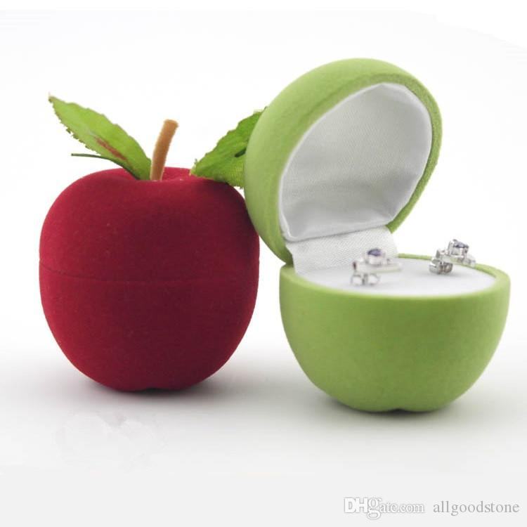 Genial 5pcs Wholesale Jewelry Packaging Display Box Lovely Christmas Apple Design  Ring Box Propose Rings Hiding Storage Container