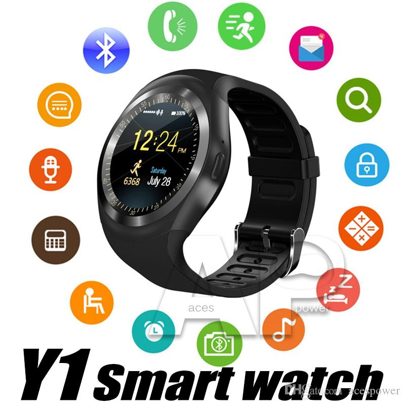 Smart Watch Y1 Watches For Android Smartwatch Support Message Cell Records With SIM Card Slot with Package