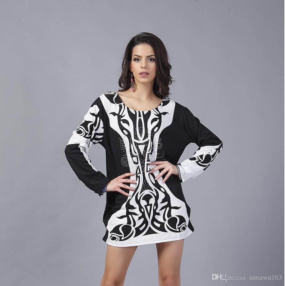 2019 New Fashion Womens Street Style Dresses Autumn Long Sleeve