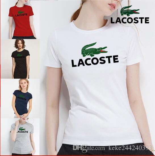 b963b550cd0 2019 latest summer women's clothing brands clothing 100% cotton comfortable  female T-shirt, Animal Print English letter T-shirt lady