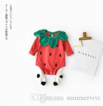 3f9e7a629d38 Infant Kids Romper Toddler Kids Cartoon Watermelon Romper Baby Girls ...