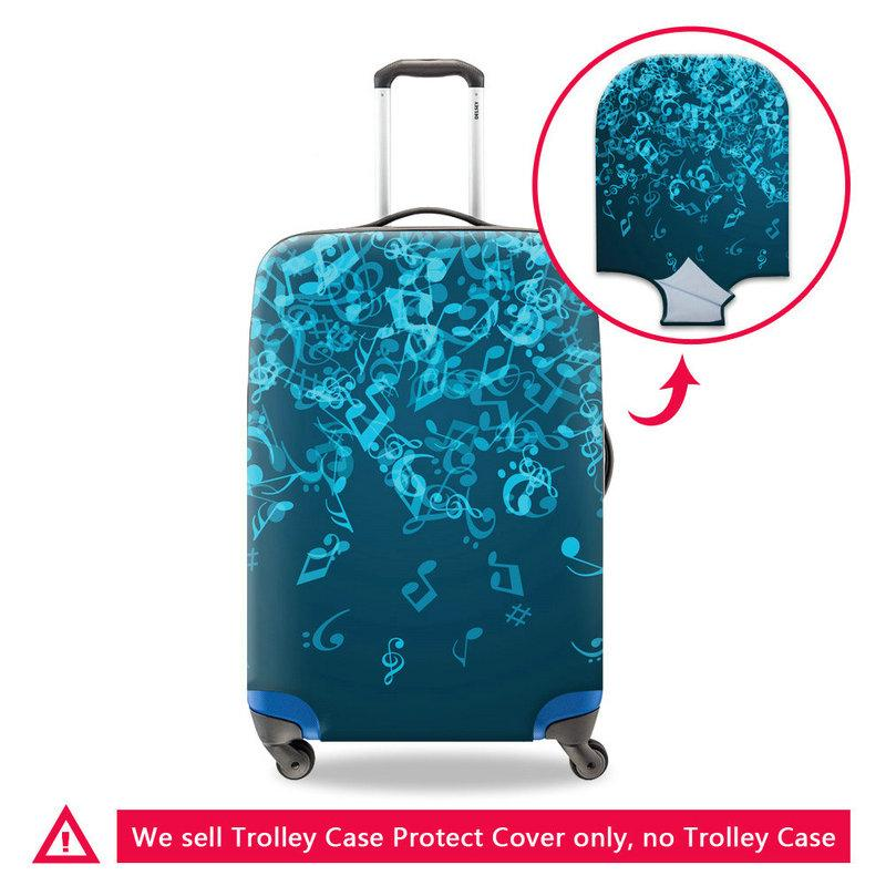 Travel On Road Luggage Protective Cover For 18 20 22 24 26 28 30 Inch Case For A Suitcase Waterproof Dust Rain Covers Men Travel Accessories