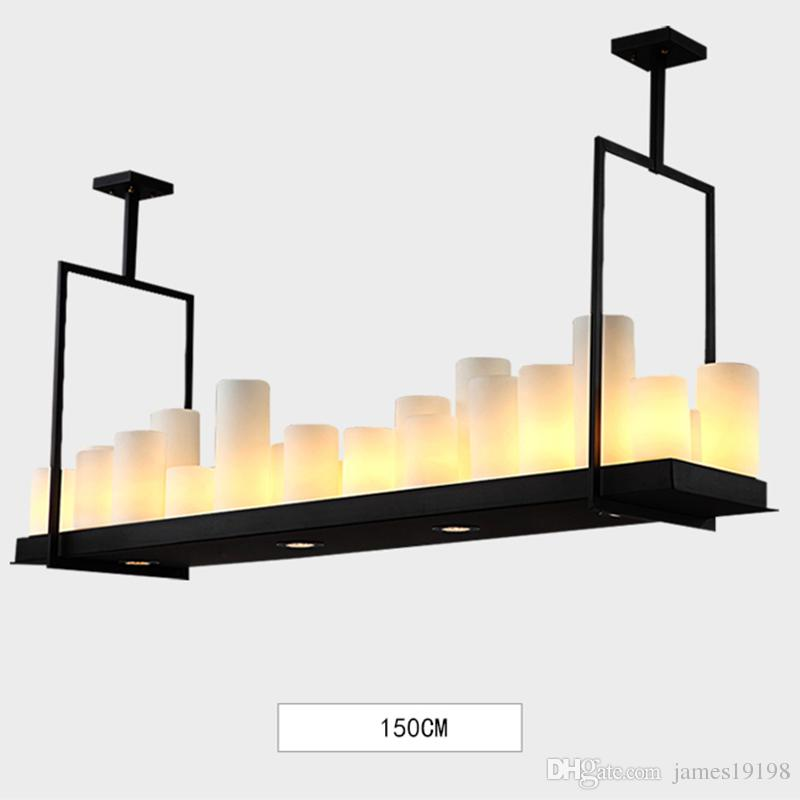 French Candlestick Chandelier Rectangular Glass Candle Lamps Modern ...