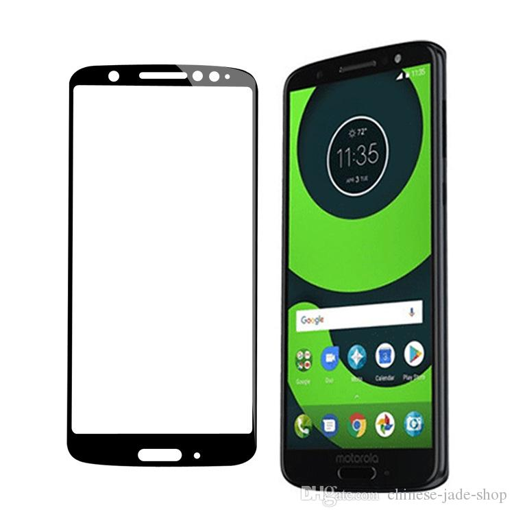 9H Full Cover Tempered Glass Screen Protector Silk Printed FOR MOTOROLA MOTO G6 plus G6 play E5 PLUS E5 PLAY IN Retail package