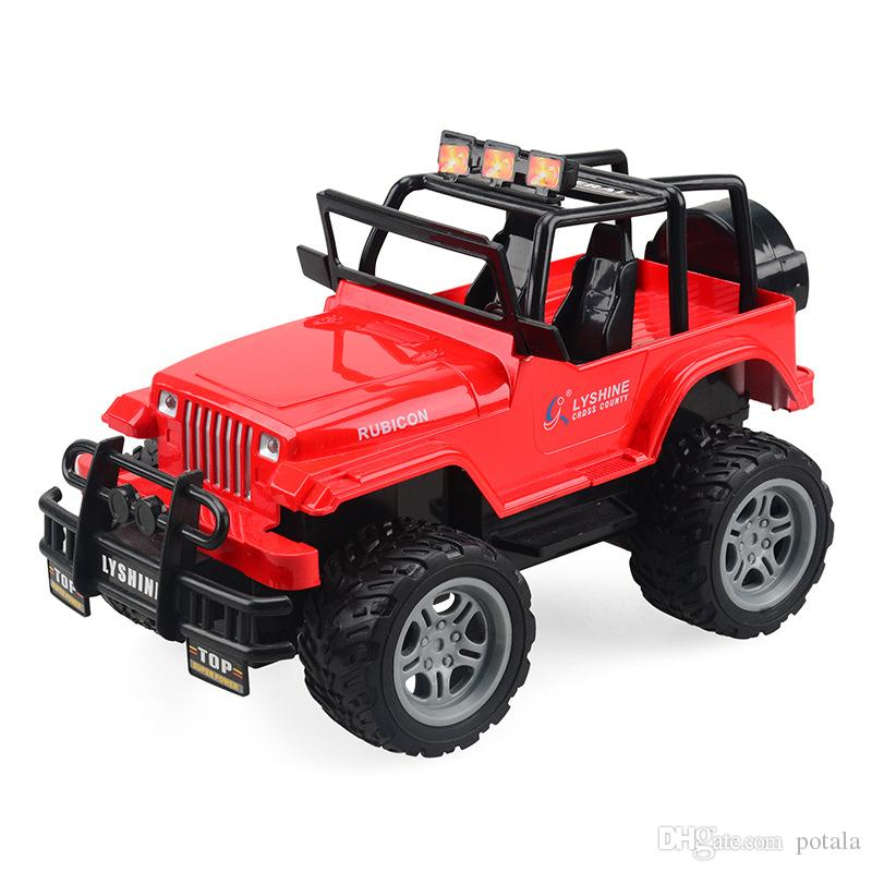 Cool Remote Control 4CH RC Car Electric Toys Funny kids Toys Party Radio Racing Controlled Cars 4 Channels Vehicle SUV Police Jeep Big