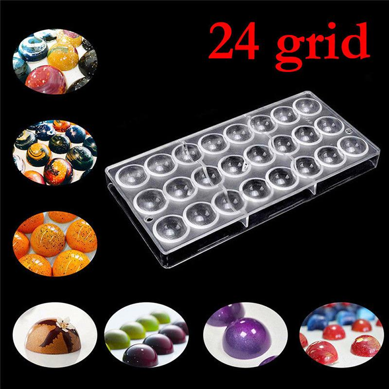 2018 24 Hole Diy Half Ball Chocolate Maker Mold Clear Polycarbonate Pc Semi Round Candy Small Cake Mould Pastry Tools From Zhexie 49 Dhgate Com
