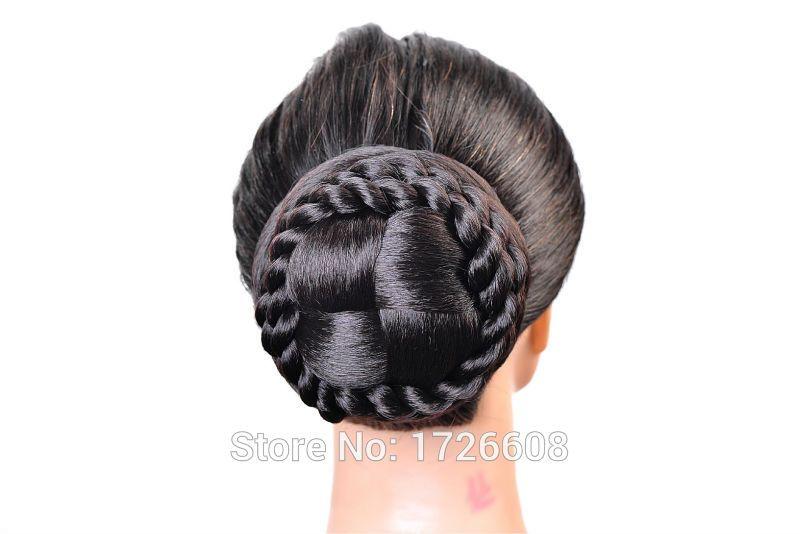 Synthetic Extension Chignon Hair Bun Clip Braid Hairpiece Updos Fake ...