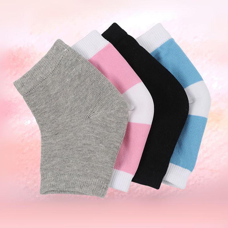Calcetines de tacón de algodón con protector de cojín de gel en el talón.