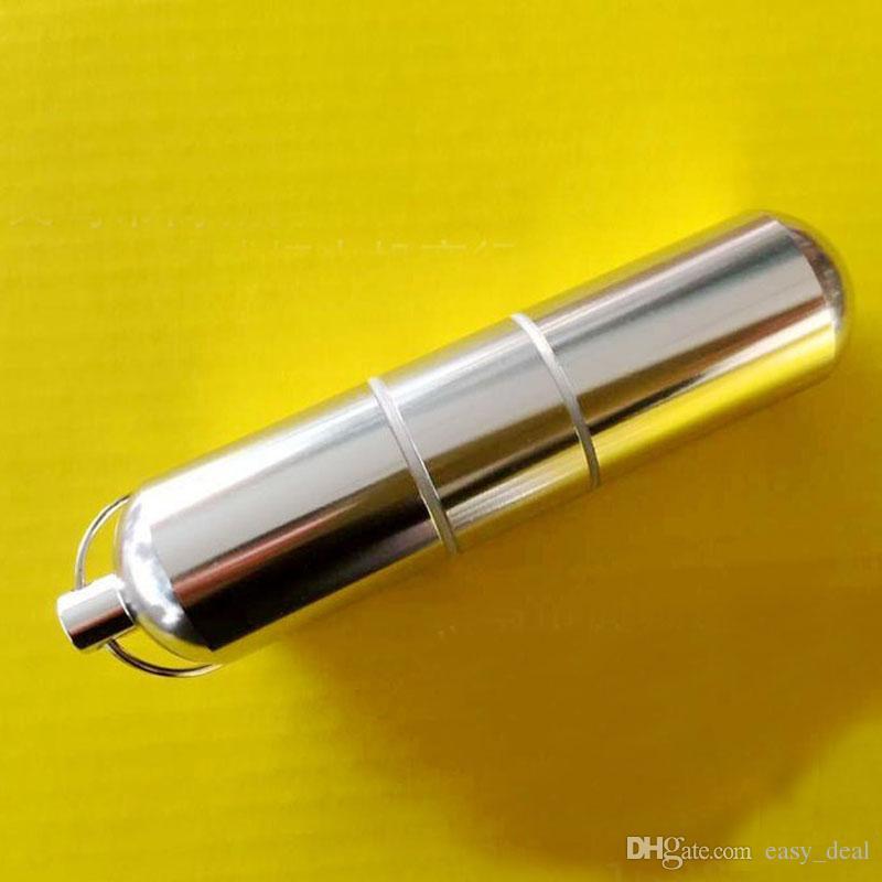 Mini caja de cigarrillos portátil de la caja de la píldora de la aleación de aluminio con las cajas / los compartimientos de almacenamiento del llavero para el cigarrillo ZA6223