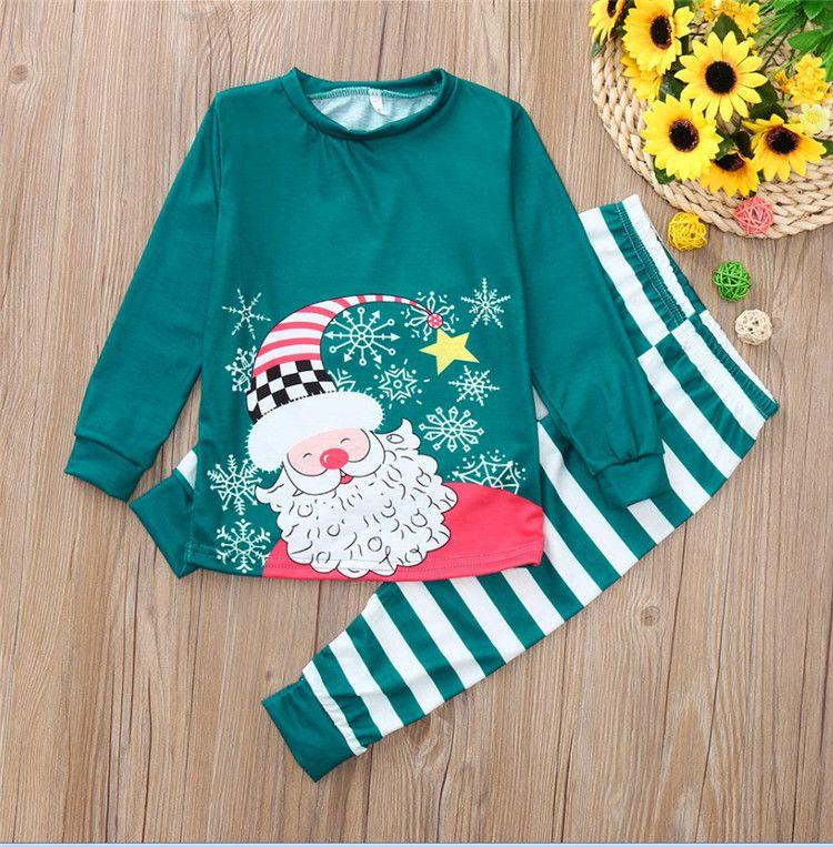 8054affb4 Family Christmas Matching Pajamas Mom Dad Baby Kids Sleepwear Family ...