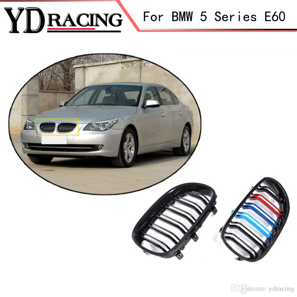 5 Series E60 ABS Mesh Gloss Auto Front Grill Grille For BMW E60 Grill E61  520d 520i 523li 525li 530l Sedan 4-Door 2005-2008