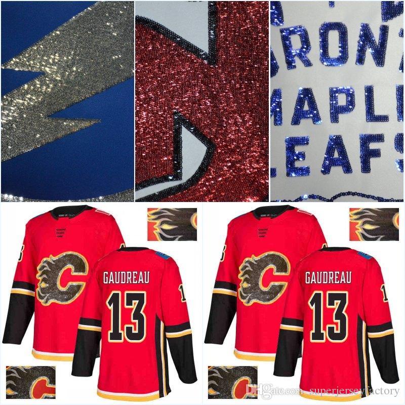cb09fbf10ca sweden 2018 calgary flames 2018 new gold embroidery jersey 13 johnny  gaudreau 93 sam bennett 18