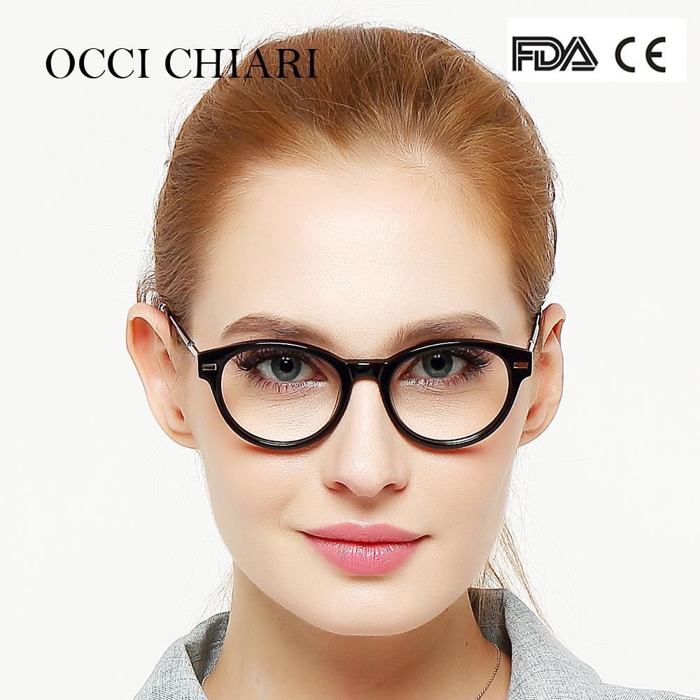 50f0065a0b12 2019 OCCI CHIARI Italy Design Classic Fashion Women Girls Eyeglasses  Eyewear Glasses Frame Round Full Rim Black Blue Demi W CASAL From Pickled