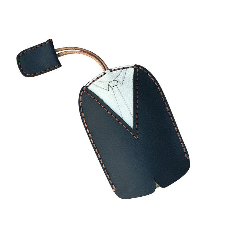 Genuine Leather Key Holder with Pull Strap Keychain Pouch Fashion ... 86bddbe6b