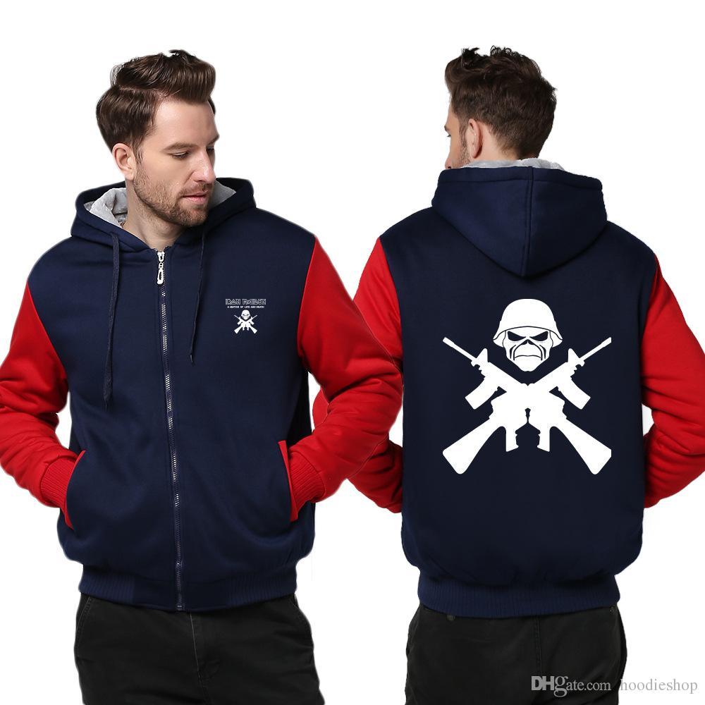 54a77c44fda61 2019 US Size Iron Maiden Hoodie Winter Hoodie British Heavy Metal Band  Fleece Hooded Zip Casual Sweatshirts Hoodies Tops USA Size Plus Size From  Hoodieshop