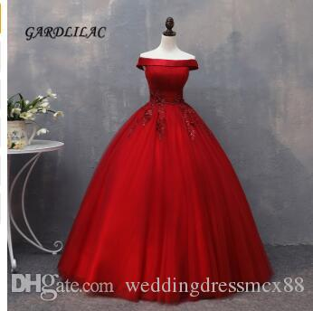 3824d4429d8 Hot Sale Red Quinceanera Dresses 2018 Lace Appliques Beaded Ball Gown Long  Prom Gown Sweet 16 Dress For 15 Years Plus Size Dress Store Dresses For  Special ...