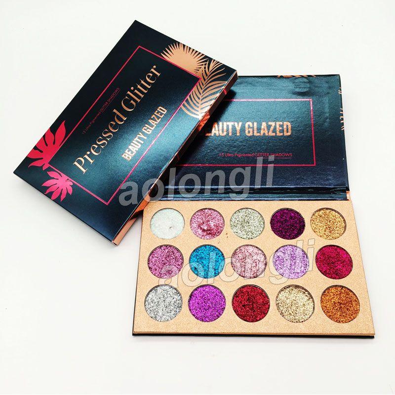 Meilleur Beauté Glitter Glitter Fard À Paupières Palette 15 Couleurs Ombre À Paupières Palette Maquillage Ultra Shimmer Visage Cosmétiques livraison gratuite