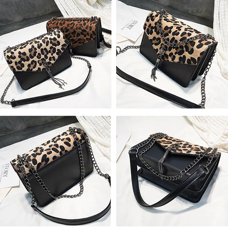 e55de3d7f1b1 Leopard Chains Bag for Women Famous Brand Female Handbag Women s Purse  Crossbody Messenger Shoulder Bags Sac A Main Bolsos Mujer Leopard Chains Bag  Female ...