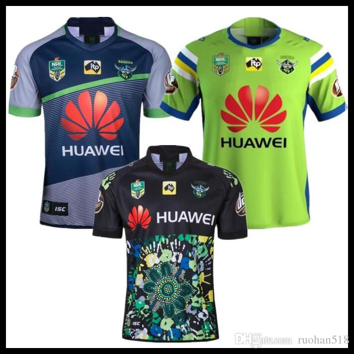 2293b9be 2018 NRL Rugby JERSEY CANBERRA RAIDER S 18 19 Oakland canberra raider home  away rugby league jersey football shirts size S-XXXL