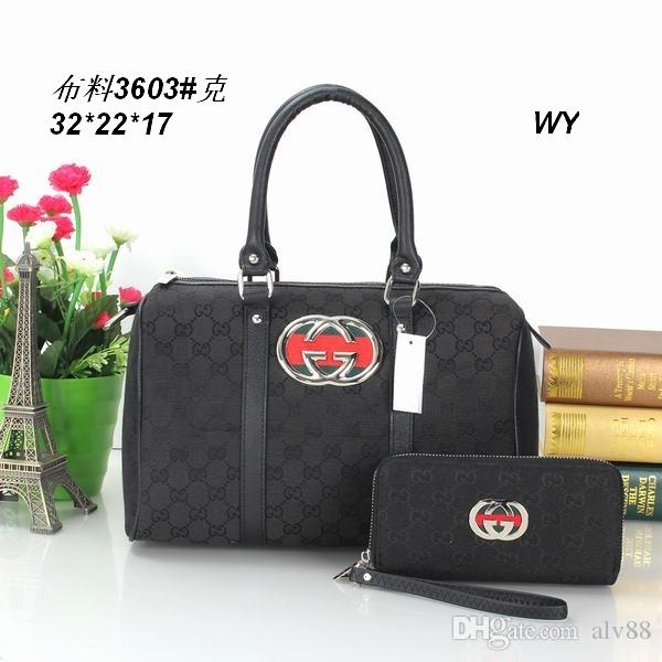 11932b9693 2018 Styles Handbag Famous Designer Brand Name Fashion Leather Handbags  Women Tote Shoulder Bags Lady Leather Handbags Bags Purse3606 Handbags  Wholesale ...