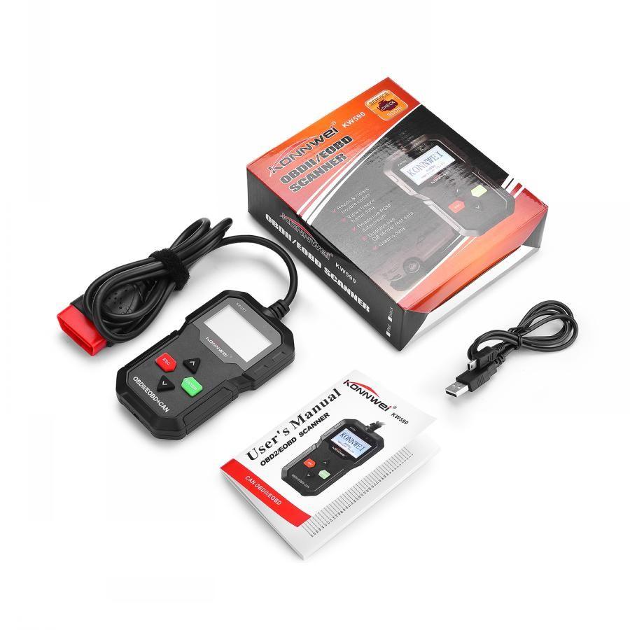 OBD2 Car Diagnostic Scanner Code Reader KONNWEI KW590 OBD 2 Autoscanner Multi-language OBDII Scanner Automotive Better Than AD310