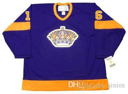 separation shoes b7106 0c298 Personalized Custom Los Angeles Kings Mens Jersey 16 MARCEL DIONNE Purple  1978 CCM Vintage Hockey Jerseys