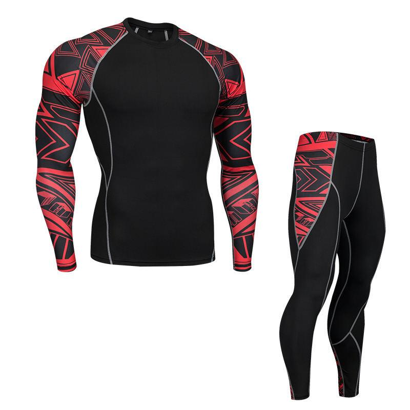 57b5ae611eff6 2019 Mens Compression Tights Baselayer Pants For Workout Long Sleeve Tops  Gear Wear Sports Fitness Tops Tight Tops From Akybeating, $30.45 |  DHgate.Com
