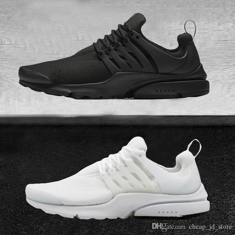 online retailer 0debd 27a96 Acheter Nike Air Presto Shoes 2018 Vente En Gros Presto BR QS Breathe Noir  Blanc Jaune Rouge Hommes Chaussures Sneakers Femmes Chaussures De Course ...