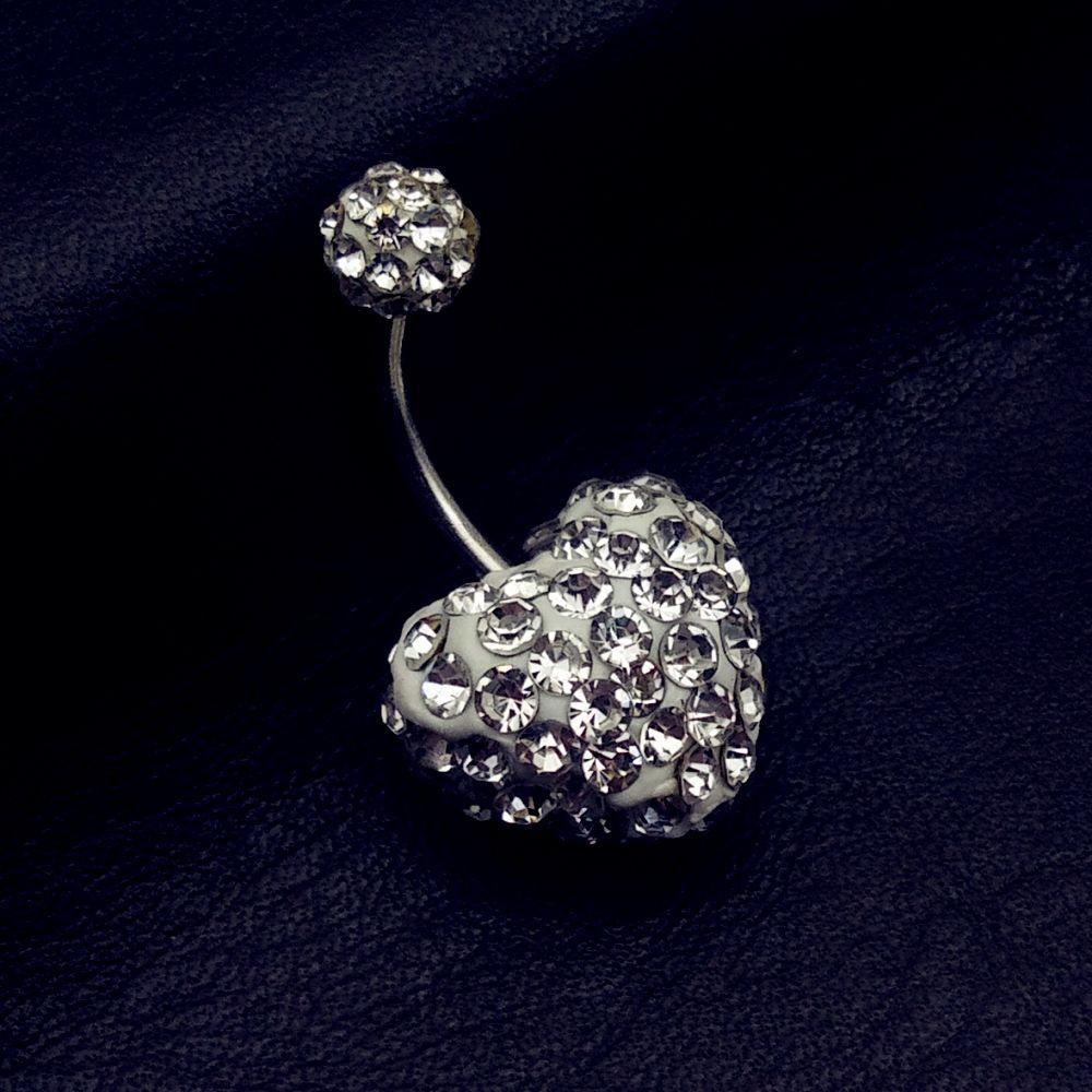 Taladro completo Shambhala Checa ombligo hipoalergénico anillos barra del corazón ombligo piercing para mujeres dama sexy percing ombligo septo