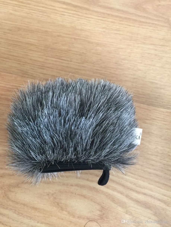Großhandel Outdoor-Mikrofon pelzigen Windschutzscheibe Abdeckung für Tascam DR44 Recorder, Professial Outdoor-Mikrofon pelzigen Windschutzscheibe Muff