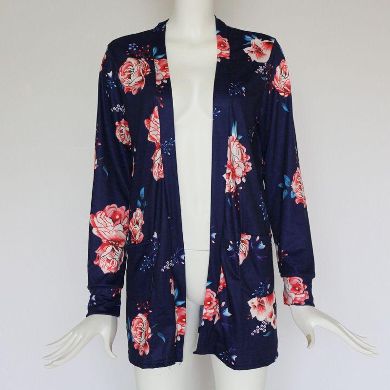 Les femmes nouvelles de cardigan floral de ressort décontracté de fleur décontractée d'Eur Out Outwear de style décontracté d'habillement mince pour des ventes