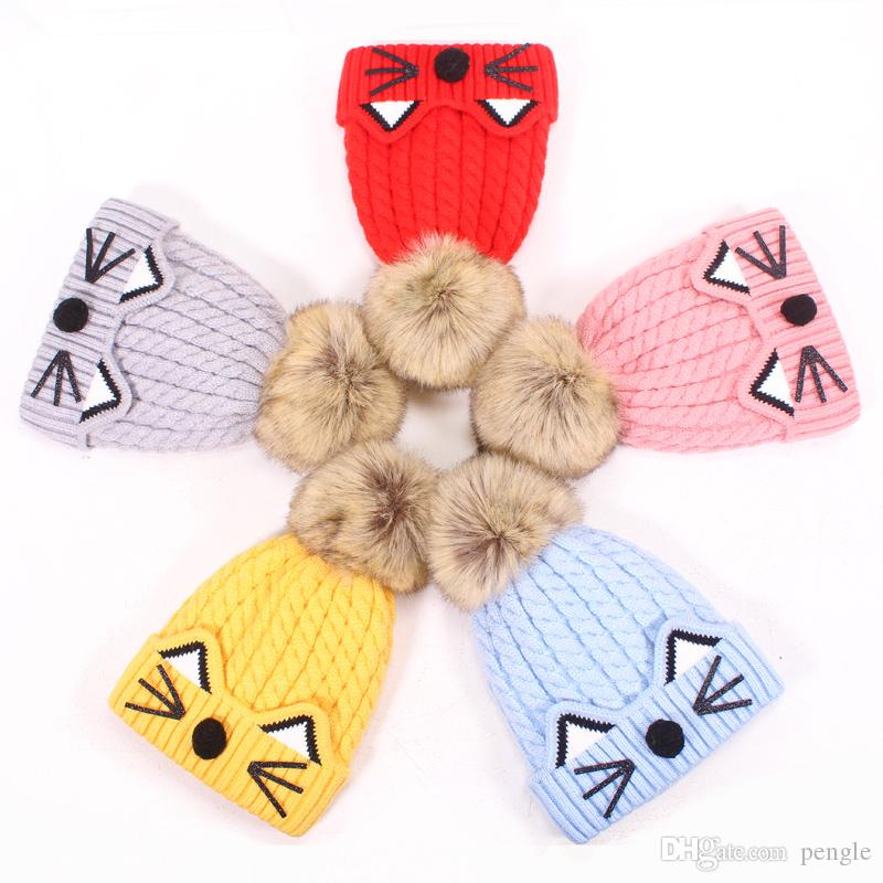 c1b6d6fa6fb Fashion Cute Baby Winter Warm Beanie Hat Baby Toddler Knitted Double ...