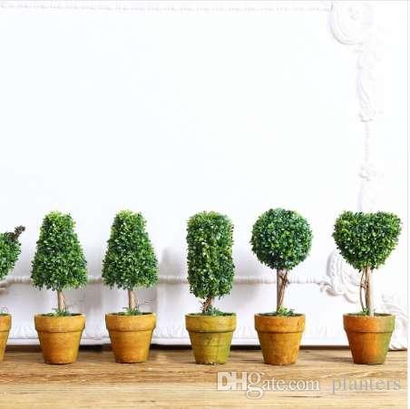 Großhandel Top Mini Künstliche Pflanze Decor Dekorative Topfpflanze ...