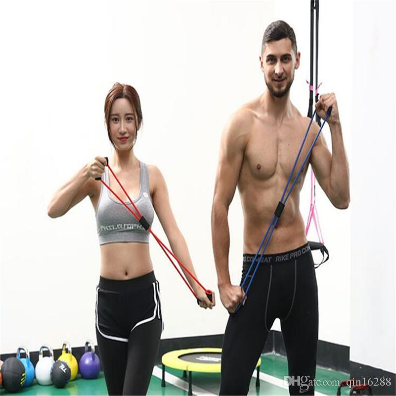 Neue Rekord-Qualität Gummi-Widerstand-Bands-Set Fitness-Workout elastische Trainingsband für Yoga Pilates Band Crossfit Bodybuilding-Übung