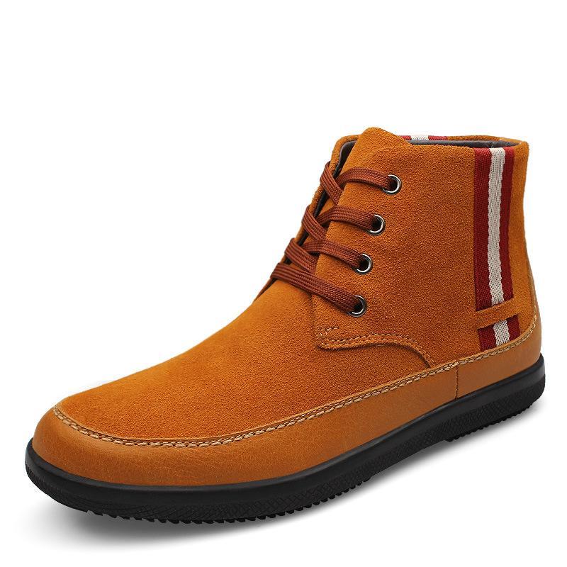 df119a2e76b9 Großhandel 111% Echte Leder Männer Stiefel Winter Schnee Stiefel Mode  Lässig Lange Warme Stiefel Für Männer Wolle Fell Wanderschuhe Von  Bluemoodd, ...
