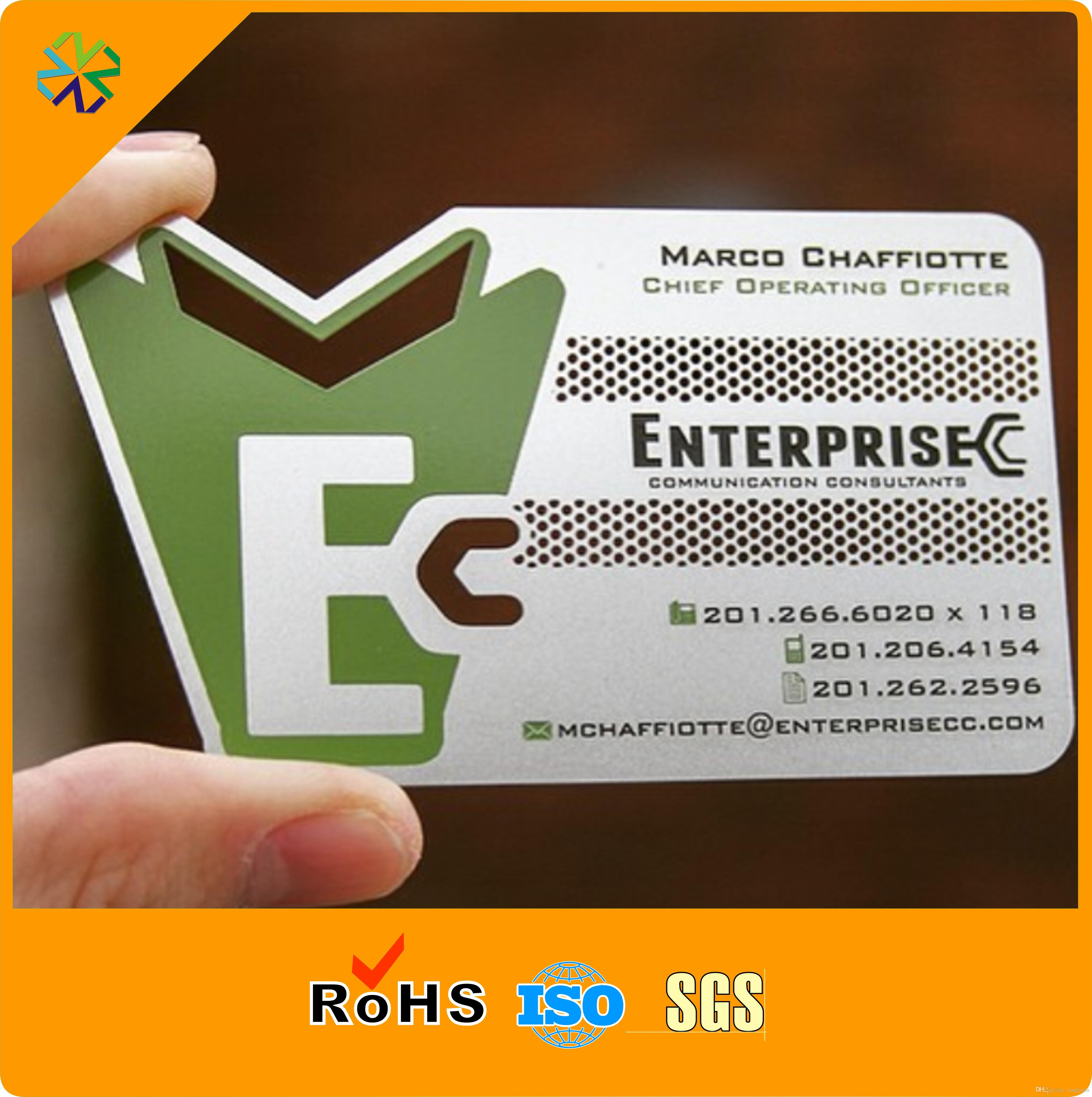 cheap 304 stainless steel metal card metal business card die out words glossy stainless metal business cards stainless metal business cards metal business - Metal Business Cards Cheap