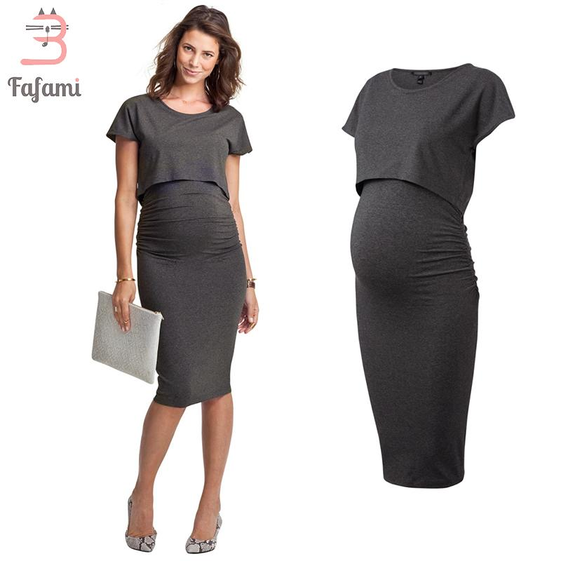 5a99e0121 2019 Maternity Dresses Lycra Nursing Dress EleClothes For Pregnant Women  Pregnancy Clothes Maternity Clothing Photo Shoot From Jasmineer, $47.09 |  DHgate.